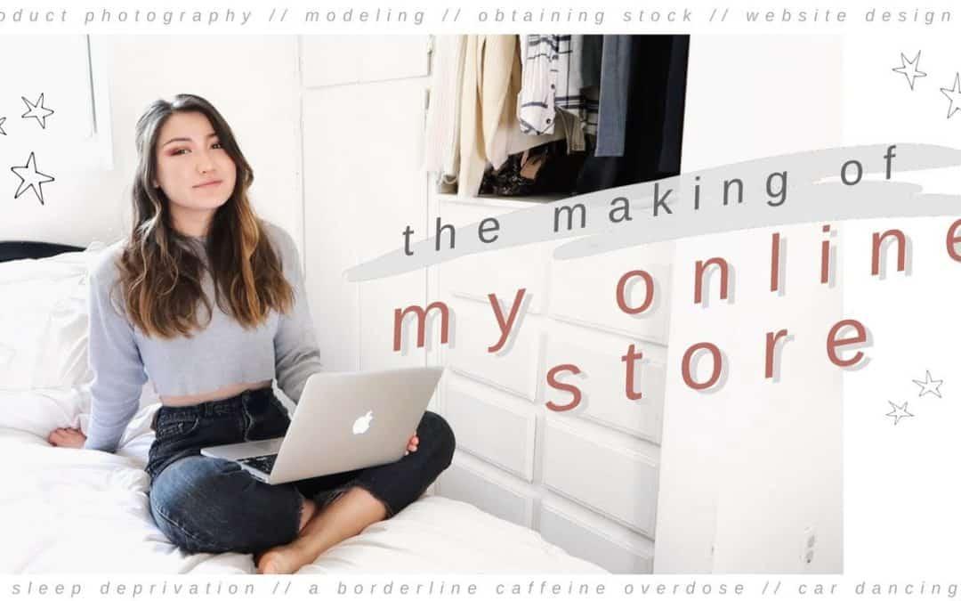 STARTING AN ONLINE BUSINESS // photography, modeling, thrifting, website design
