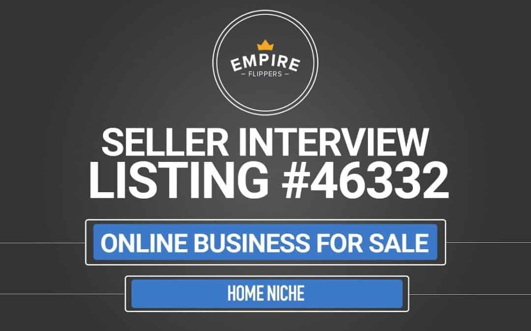 Online Business For Sale – $5.1K/month in the Home Niche