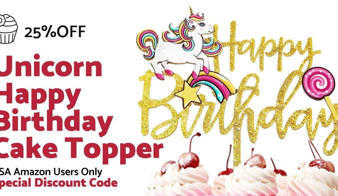 Unicorn cake topper [25% OFF AMAZON COUPON DEAL]