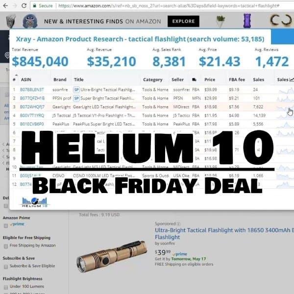 BLACK FRIDAY SALE: get 100% Off Helium 10