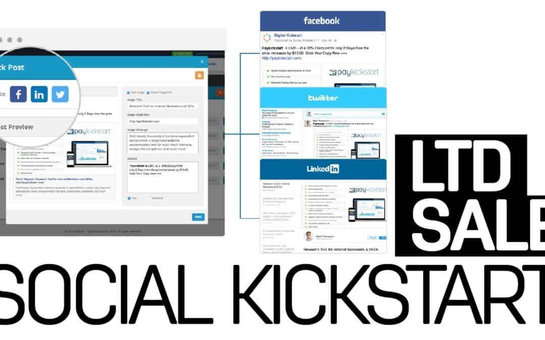 Social Kickstart LTD SPECIAL software SALE